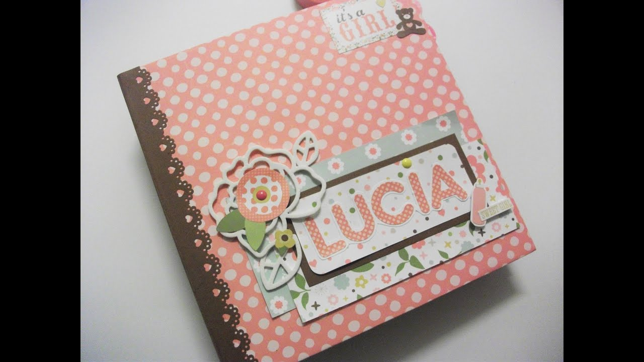 Album bebe scrapbook para ni a youtube - Album para guardar fotos ...