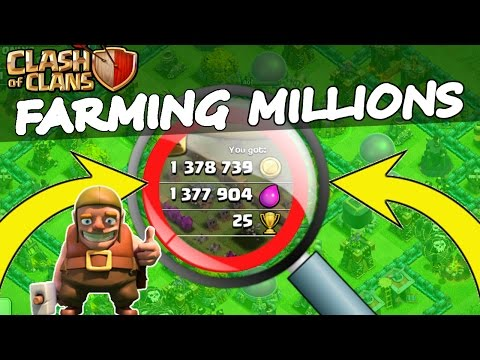 Clash Of Clans | FARMING MILLIONS! | BEST PLACE TO FARM 2015!