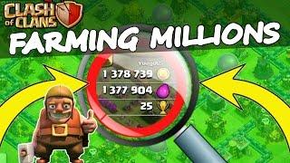 Clash Of Clans | FARMING MILLIONS! | BEST PLACE TO FARM 2015!