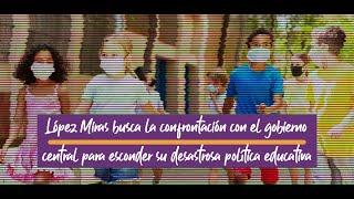 La 7TV- López Miras confronta con el gobierno central para esconder su desastrosa política educativa