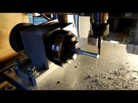 4th axis DIY CNC aluminum machining with handwritten gcode