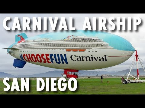 Carnival Panorama Preview ~ Carnival AirShip in San Diego ~ Carnival Cruise Line ~ New Cruise Ship
