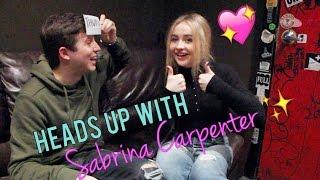HEADS UP CHALLENGE with SABRINA CARPENTER! (EVOLution Tour Interview)