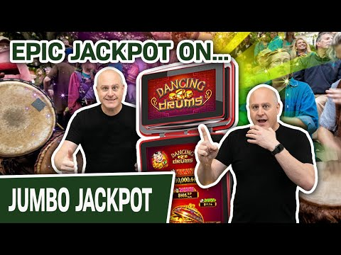 🥁 EPIC Dancing Drums JACKPOT 💸 $44 Spins Lead to a VERY Big Slot Machine Win
