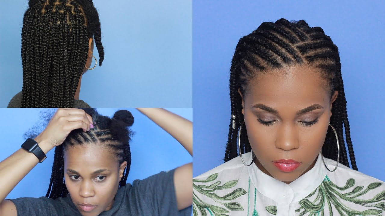 cornrows x box braids: fun vacation hairstyle