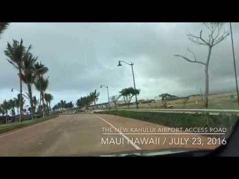 Maui Hawaii Kahului Airport Access Road 2016