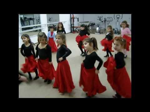 Clase de flamenco para el grupo 1A edad 4 a 7 años Lloret de Mar