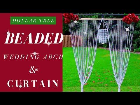 DIY BEADED CURTAIN   DOLLAR TREE  WEDDING DIY