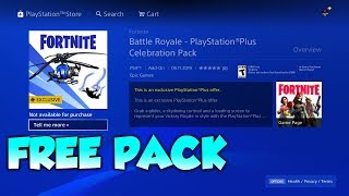 NEW FREE PS PLUS PACK in Fortnite   How To DOWNLOAD IT (PlayStation Plus Celebration Pack)