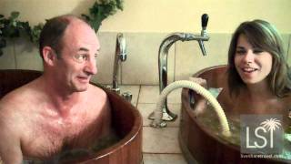 Beer spa - naked in a beer bath
