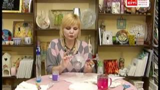 Декупаж.Декор бокала-подсвечника.Леся Максаева.(, 2010-11-27T22:01:37.000Z)