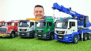 Las trocas grandes. Camiones de juguete .Vídeos de juguetes para niños