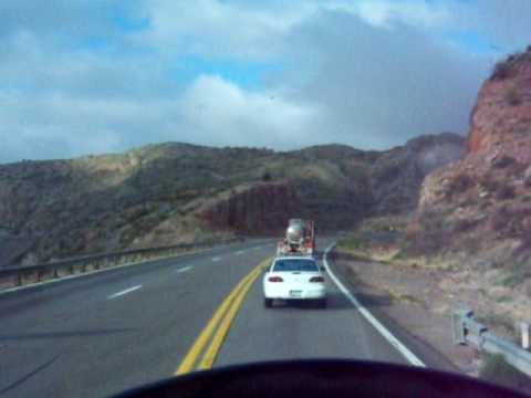 Another Trip Down 7% Grade on US 60 Going Into Superior, Arizona
