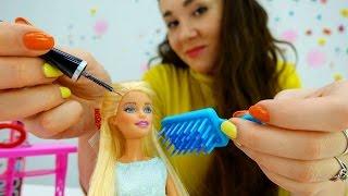 Детское видео про кукол: Барби и вечеринка. Игрушки для девочек и одевалки куклы #Барби на ютьюб