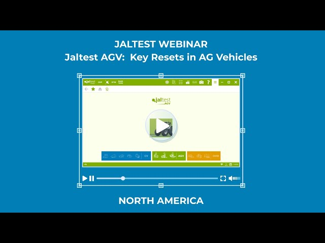 JALTEST WEBINAR | Jaltest AGV. Key Resets in AG Vehicles