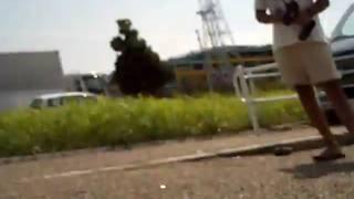 USS横にて・・・ サベにカメラ乗っけてみました~!!