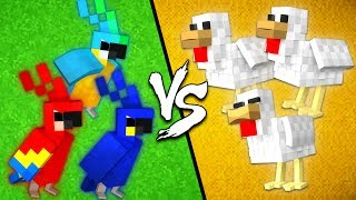 Parrots vs. Chickens - Minecraft