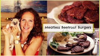 Meatless Beetroot Burgers Recipe + Delicious Cumin Rice | Vitalivesfree