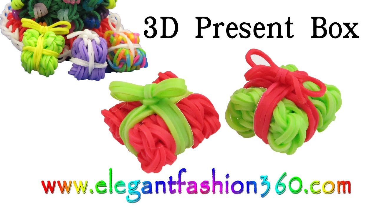 Rainbow loom presentgift box 3d charms how to loom bands rainbow loom presentgift box 3d charms how to loom bands tutorial christmasholidayornaments youtube negle Image collections