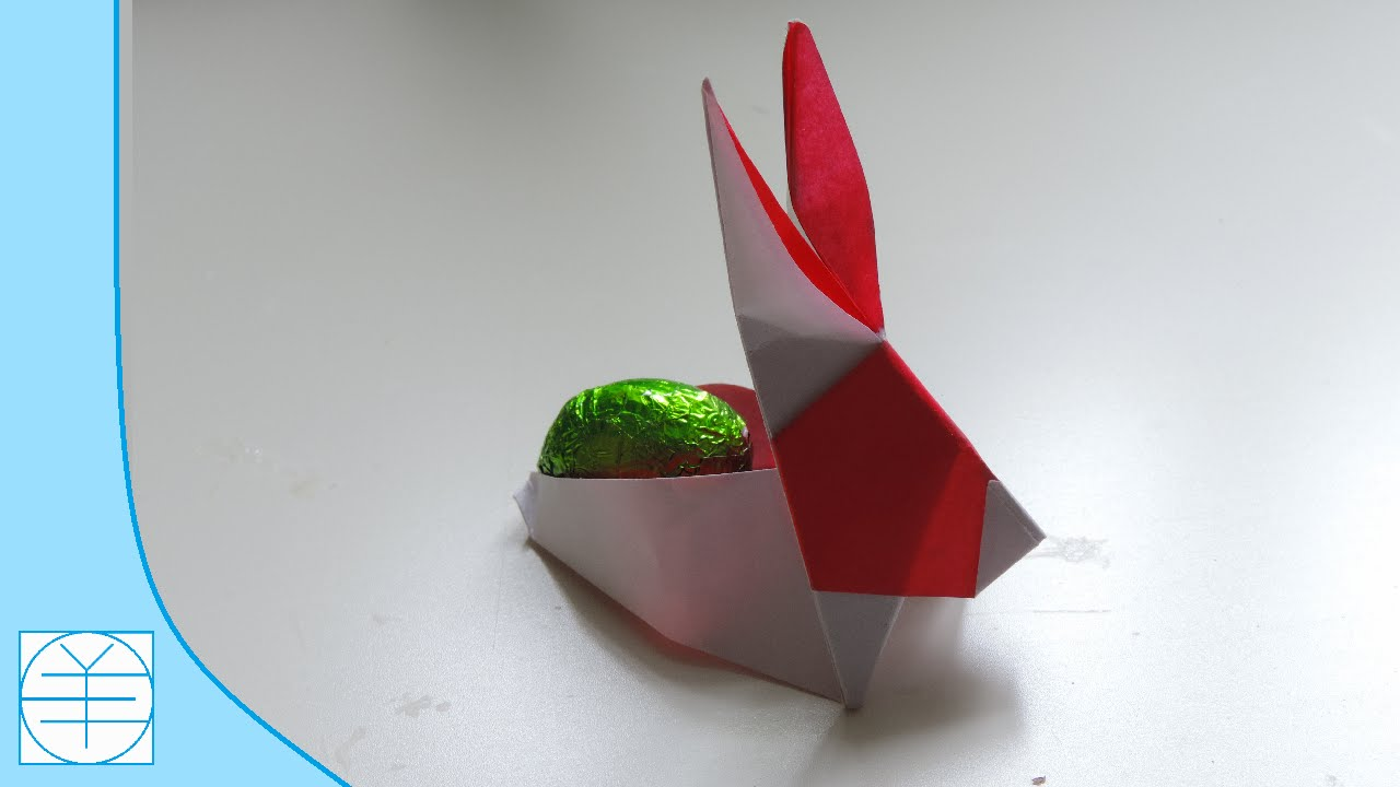 easter origami bunny container basket easy