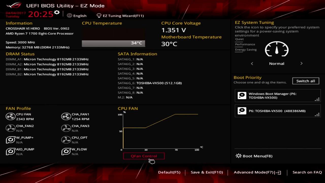 ASUS ROG Crosshair VI Hero BIOS Overview