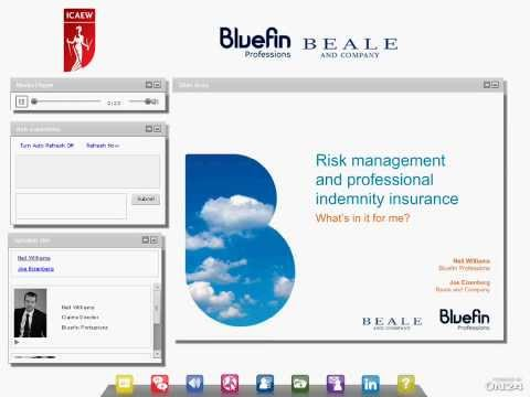 Risk management and professional indemnity insurance - what's in it for me?