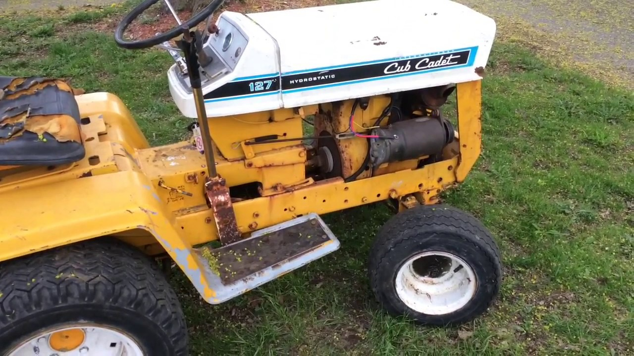 its running cub cadet 127 2 tractor restoration progress and update 2 youtube. Black Bedroom Furniture Sets. Home Design Ideas