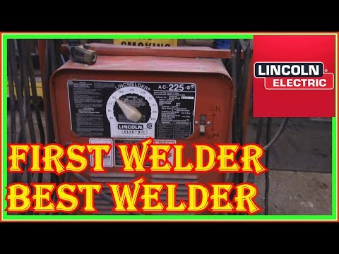 Lincoln 225 Stick Welder Review -  First Welder - Best  Welding Rod  To Use  Is What Farmers Use