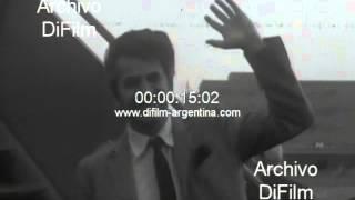 DiFilm - Daniel Gelin y Sami Frey arriban a Buenos Aires 1966