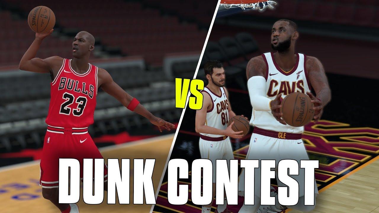 Lebron James vs Michael Jordan In A Dunk Contest! NBA 2K18 Gameplay!