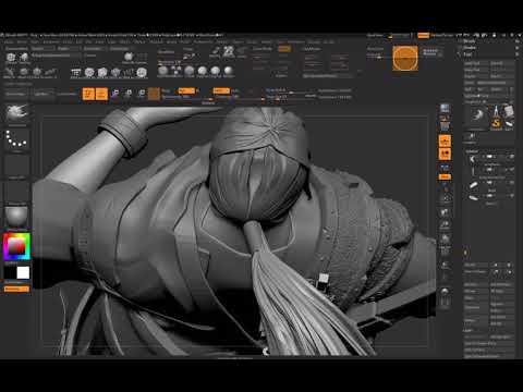Zbrush character digital sculpt - 29 - Detailing sword, adjusting positions
