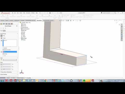 SOLIDWORKS Simulation - Applying Loads Using Selected Direction