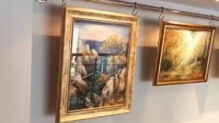 Выставка картин из шерсти Марины Аскеровой. Библиотека '' Книга во времени'', Санкт-Петербург.
