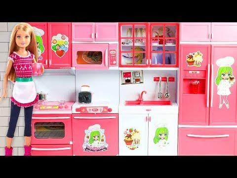 Barbie icin YENİ My Kitchen Mutfak Seti | EvcilikTV