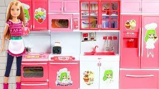 Barbie icin YENİ My Kitchen Mutfak Seti   EvcilikTV