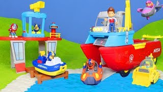 PAW PATROL: Chase, Feuerwehrmann Marshall, Ryder & Sea Rubble Unboxing Video auf Deutsch