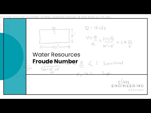 Water Resources-Froude Number