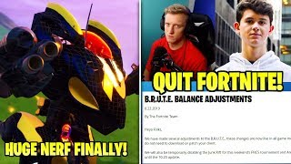 MECH *FINALLY* NERFED, Tfue & Bugha QUIT Fortnite, Epic Finally Listens