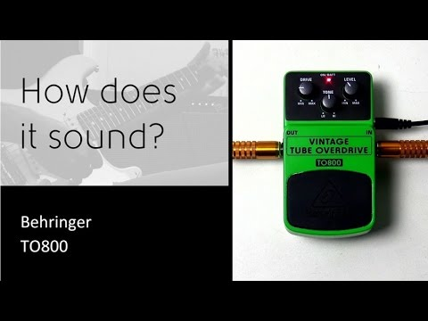 Behringer TO800 - How does it sound?