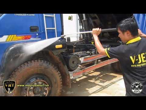 Bàn Giao Máy Rửa Xe áp Lực Cao V-JET -  Thaco Trường Hải Lạng Sơn