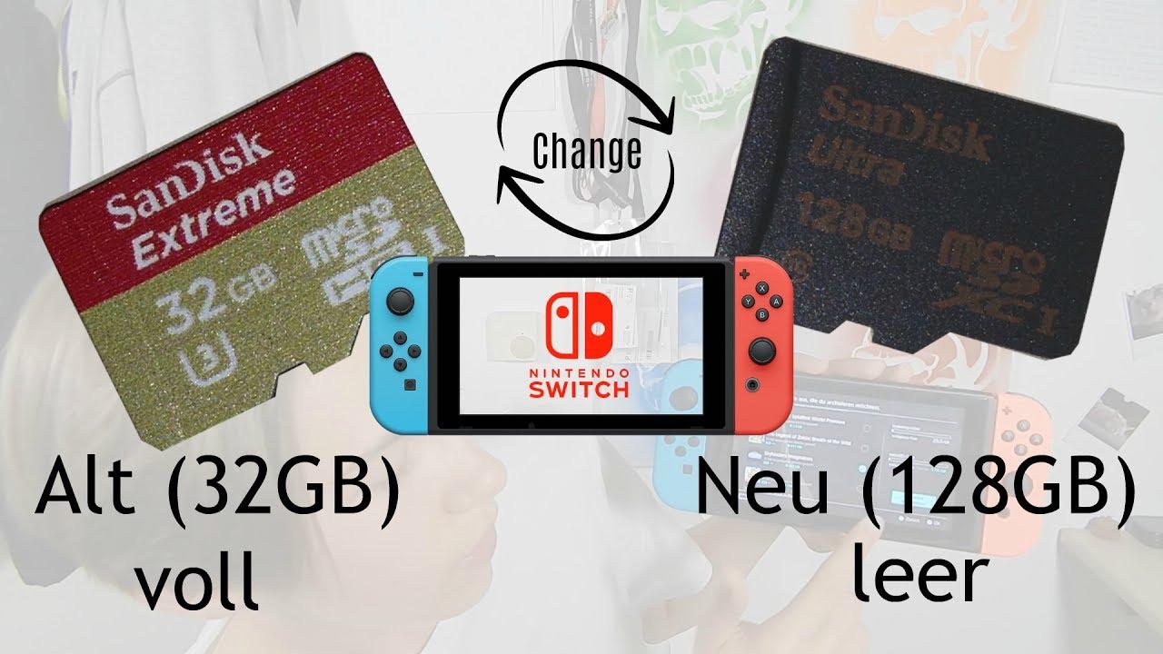 Switch Sd Karte Einlegen.Volle Microsd Karte Mit Neuer Größeren Microsd Wechseln Switch Tutorial