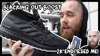 BLACKING OUT ULTRA BOOST! + 2K STUDIOS ENDORSED ME!