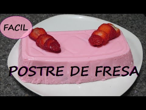 receta postre de fresas