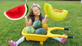 Öykü and funny Cook is taking Watermelon