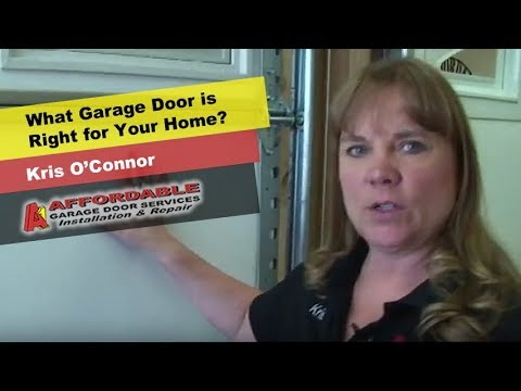 Finding the right garage door for your property
