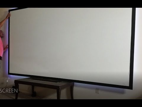 How to create a cheap projector screen standard