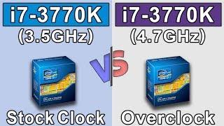 i7 3770K (stock) vs i7 3770K (overclock) | New Games Benchmarks