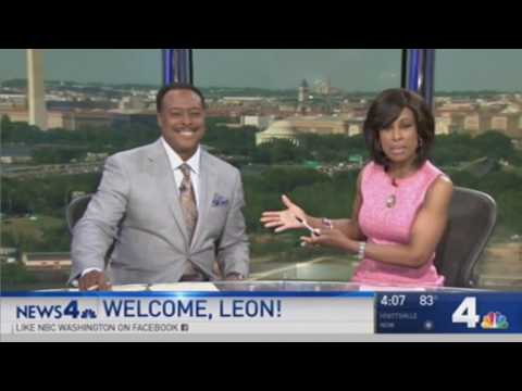Leon Harris first time anchoring on NBC4