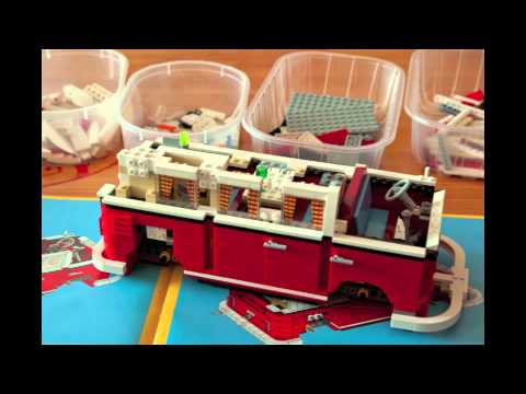 montage vw combi lego youtube. Black Bedroom Furniture Sets. Home Design Ideas
