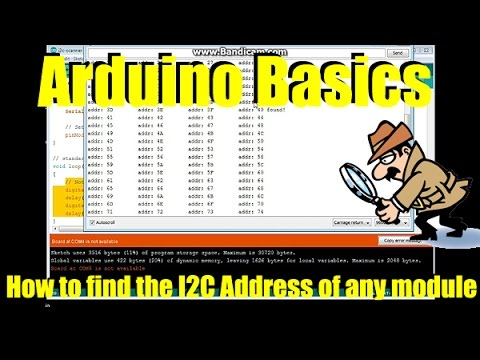 Arduino Basics How to find the I2C address of any module